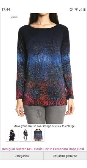 Sweater Desigual Nuevo, Con Etiqueta, Talla L