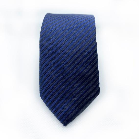 Corbata Azul Marino Slim Tie Delgada De Moda Para Hombre 5cm