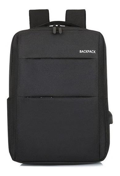 Mochila Porta Notebook Con Carga Usb Diseño Compacto