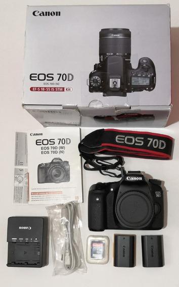 Canon 70d Body Liveview Tactil + Memoria 32gb Sandisk