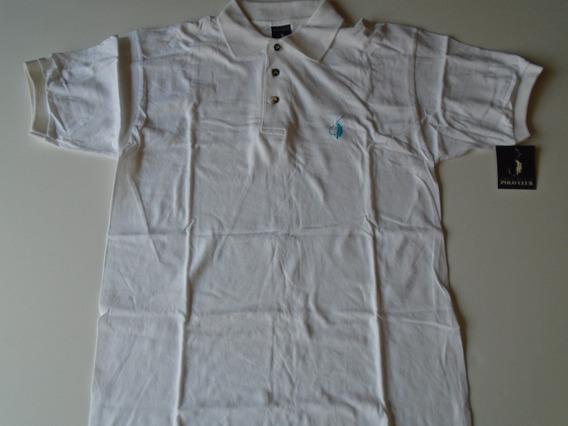 Camisa Polo Blanca Manga Corta Polo Club Talla Grande Nueva