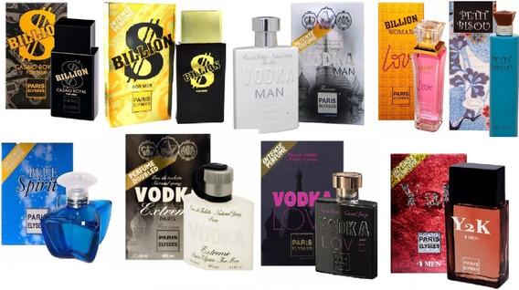 Kit 3 Perfumes Paris Elysees 100 Ml - Escolha As Fragrâncias