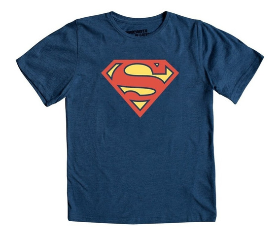 Playera Mascara De Latex Superman Logo Niño