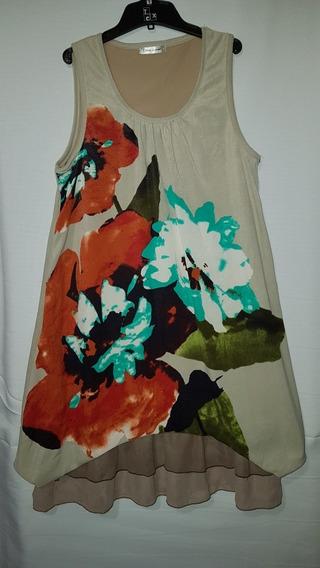Vestido Colorido Volados Talle M Ultima Moda Japón
