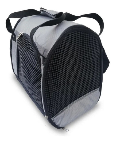 Morral Transportador Guacal Para Mascotas Color Gris