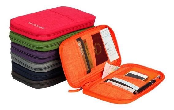 Organizador Viaje Tarjetero Pasaportes Documentos Premium