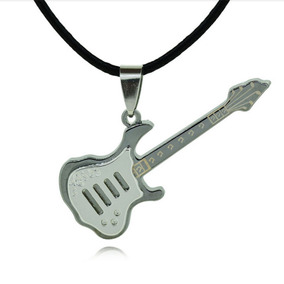 Colar Couro Masculino E Feminina Guitarra Musica