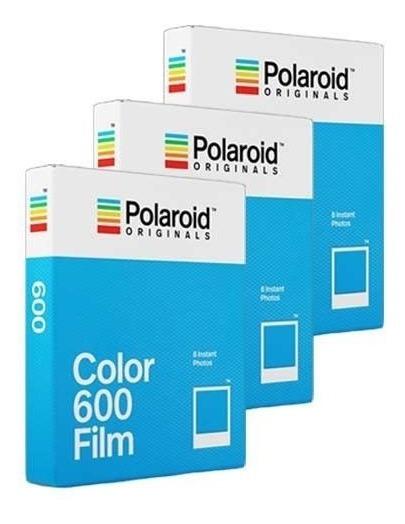 Filme Polaroid Originals 600 Color 3x Tri Pack