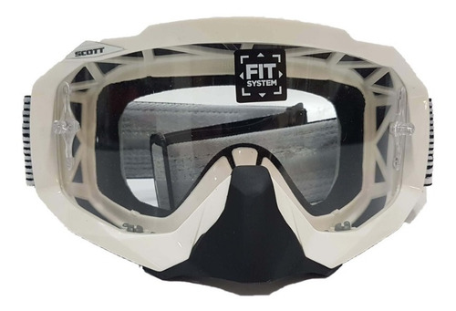 Antiparras Moto Cross Scott Hustle Sistema Fit Solomototeam