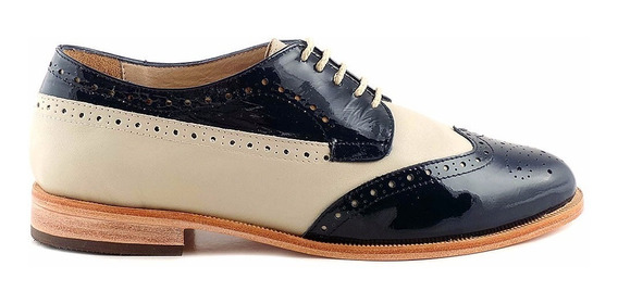 Abotinado Mujer Cuero Briganti Zapato Suela - Mccha2959 Vh