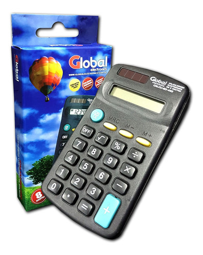 Global Calculadora De Bolsillo 8 Digitos Calcu-8d-402