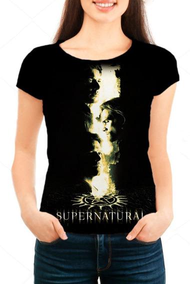 Camiseta Babylook Feminina Série Supernatural 14ª Temporada
