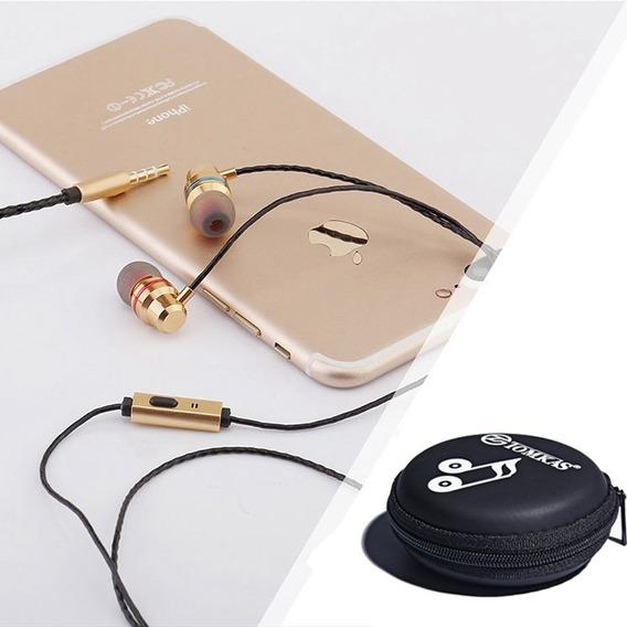 Fone De Ouvido Com Microfone Som Estéreo iPhone E Androidp
