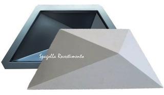 Forma De Gesso 3d E Cimento Abs 2mm Trapézio 16x37 Placa