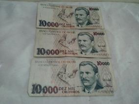 Cédulas Antigas 10.000 Cruzeiros - Nota Antiga Cédula