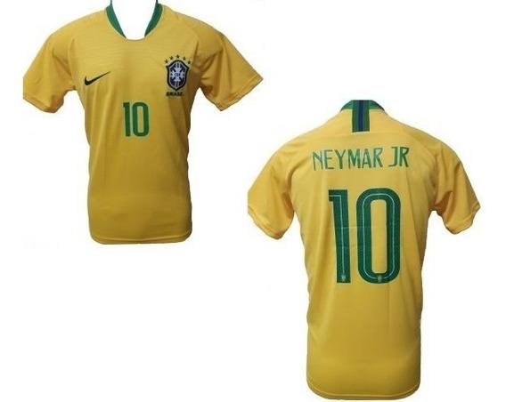 Camiseta Do Brasil Copa Do Mundo 2018 1º Linha