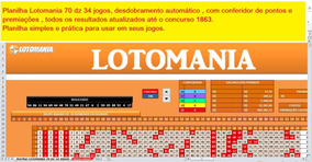 Lotomania Jogue Fácil 70dz Em 34 Jogos Com Conferidor
