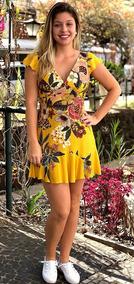 a19bbd6b56 Vestido Farm Floral Amarelo - Vestidos Femininas no Mercado Livre Brasil