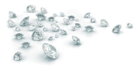 Diamante Brilhante 06 Pc 2,5 Pontos 1,8 Mm Legitima Natural