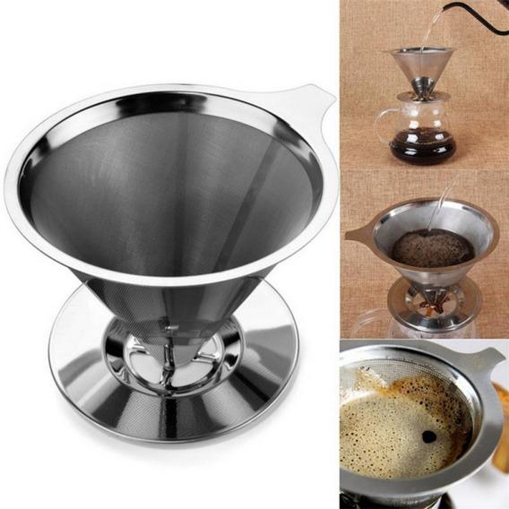 Filtro De Café Aço Inoxidável Reutilizável