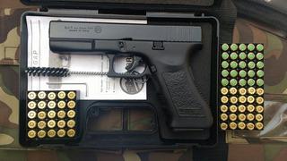 Pistola De Fogueo Bruni Glock 9mm 50 Municiones De Regalo