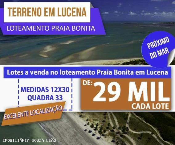 Terreno Para Venda Em Lucena, Lucena - 7460