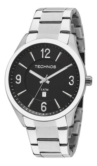 Relógio Masculino Technos 2015bzb/1p - Prata Com Garantia