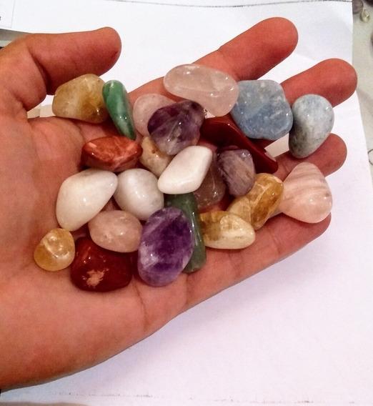 Pedras Roladas 1kg Quartzo Cristal Ametista Colar Hippie