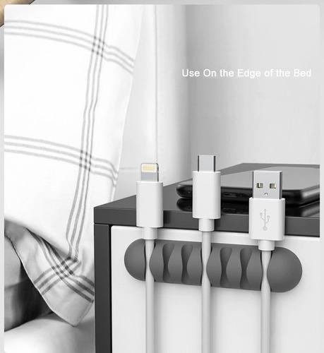 Organizador De Cables Soporte 5 Cables Escritorio Celular Pc