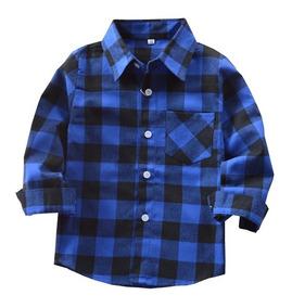 Camisa Xadrez Infantil Criança Menino Tamanho 4 Ao 10