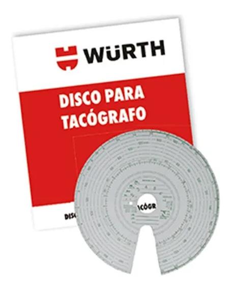 Disco De Tacógrafo Diário Wurth 100un 125km/h Escala 20 X 20