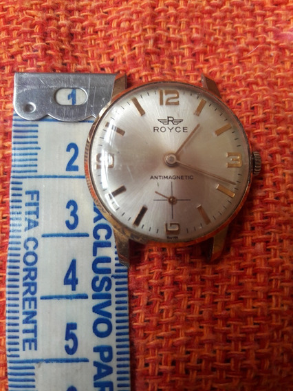 Relógio Antigo Royce Antimagnetic Corda Leia A Descrição