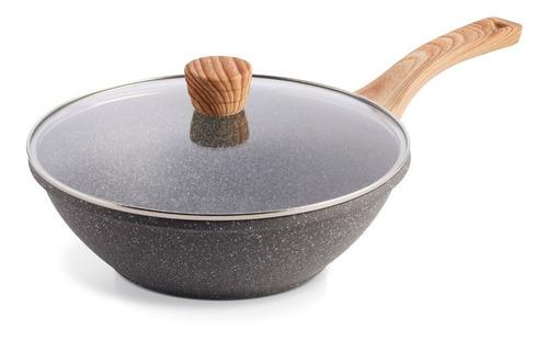 Imagen 1 de 5 de Maestro De Cocina - Wok Línea Granito Antiadherente 28cm