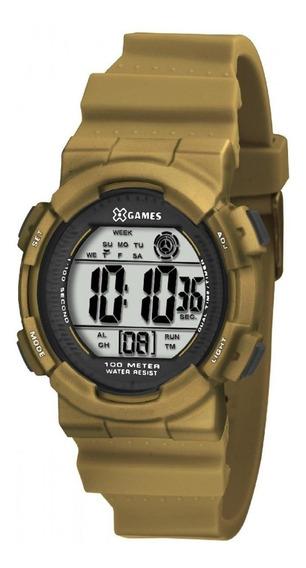 Relógio X-games Dourado Infantil Digital Xkppd022bxkx
