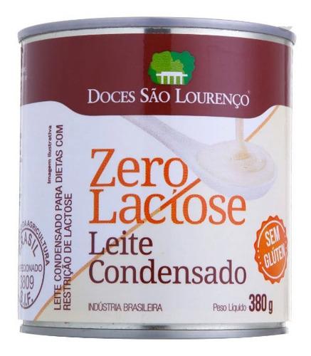 Imagem 1 de 1 de Leite Condensado Zero Lactose São Lourenço 380g