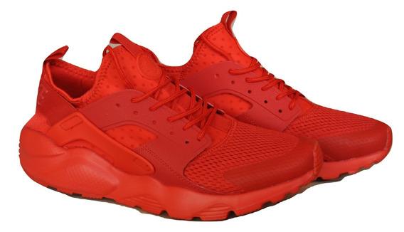 Kp3 Zapatos Damas Caballeros Nike Air Huarache Ultra Rojo