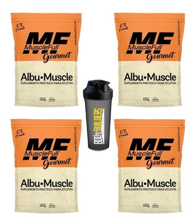 4x Albumina Proteína Do Ovo Albu-muscle 450g Muscle Full