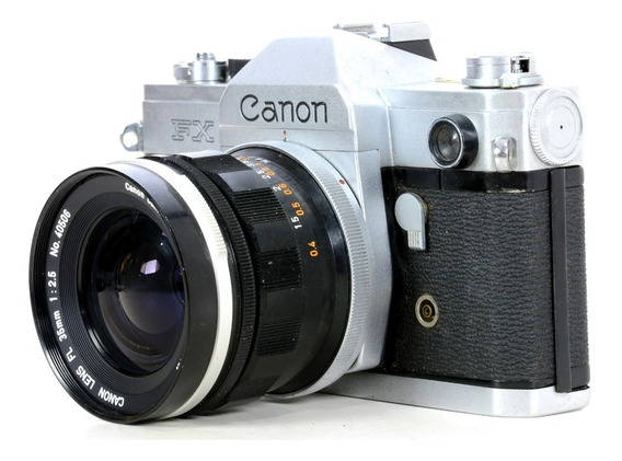 Máquina Fotográfica Analógica Canon Fx Com Objetiva 35mm 3.5