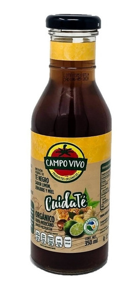 Té Negro Limón Jengibre Miel Orgánico Campo Vivo 350ml