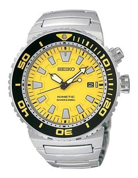 Reloj Seiko Ska385 Kinetic Quartz 200m Sumergible Acero Inox