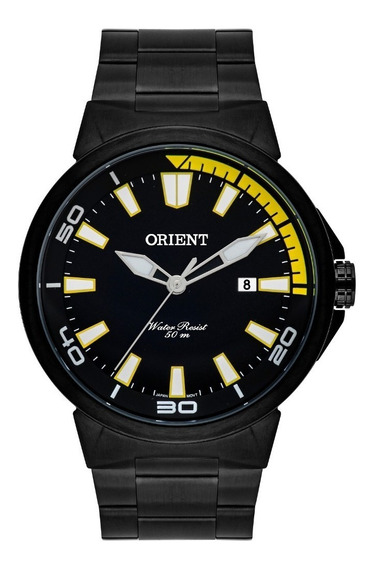 Relógio Orient Masculino Mpss1018 P1px Preto Aço Lancamento