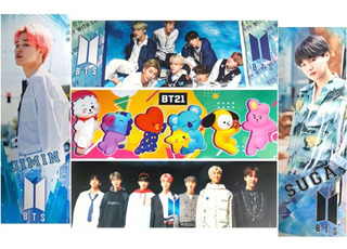 Poster Kpop Coreano Bt21 Bts 5 Piezas Chimmy Jin Suga Jimin