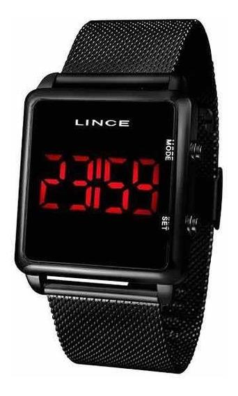 Relógio Lince Digital Led Mdr4596l Cor Preto