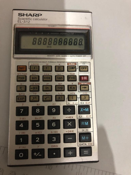 Calculadora Sharp El-512 (defeito)
