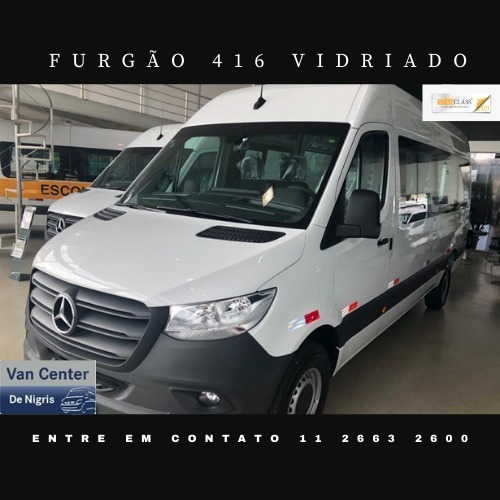 Mercedes-benz Sprinter Furgao 416 Vitre Pacote Confort