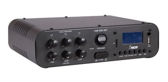 Receiver Amplificador Nca Ab100 Bluetooth Som Ambiente Ysm
