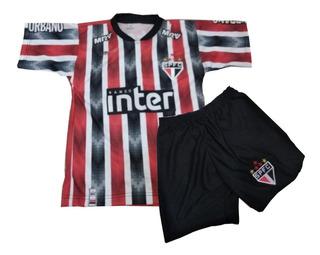 Kit Conjuntos Infantil Futebol Do São Paulo Uniforme