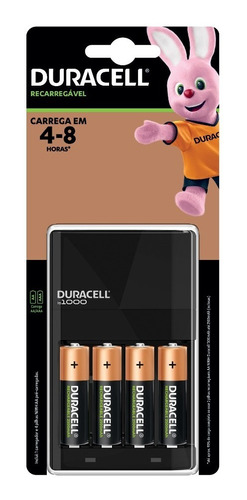 Imagem 1 de 9 de Carregador De Pilhas Recarregáveis Duracell Aa/aaa Com 4 Aa