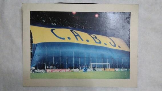 Antigua Lamina Cancha Boca Juniors Futbol Hinchada Bandera