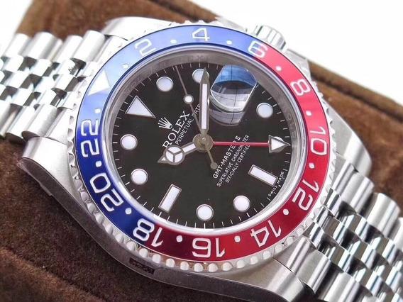 Relógio R.o.l.e.x Gmt Ii Pepsi Premium